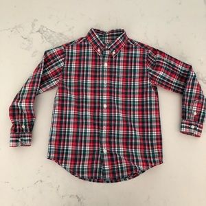 Janie and Jack Holiday Plaid Button Down Shirt